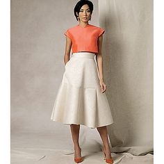 Buy Vogue Women's Top and Skirt Sewing Pattern, 1486 Online at johnlewis.com