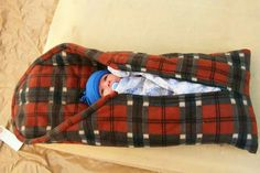 Love this! Camping-baby sleeping bag