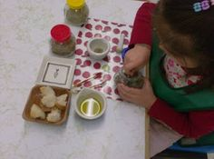 kids make their own bread dipping oils- nice way to get them working with spices.