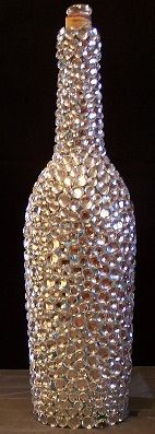 Random Acts of Bling - a bling encrusted wine bottle