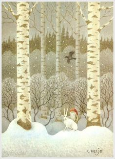 Lennart Helje - elf, rabbit, birch trees