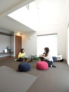 大家族でもゆったりごろごろできる、開放的なファミリー向け和室リビングがある家♪ | 奈良・新築一戸建て・分譲・住宅