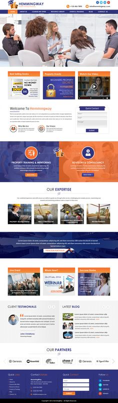 A modern and professional website design in a color theme of orange and purple. Click to see the project up close or start your own project.   #propertywebsite #webdesign #website #logodesignguru Web Design, Logo Design, Professional Website, Website Designs, Orange And Purple, Color Themes, Modern, Trendy Tree, Site Design