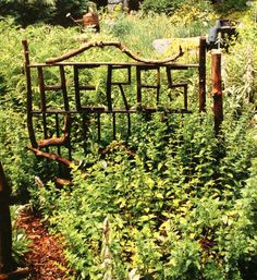 Jimmie Cramer's Herb Garden - Seven Gates Farm    (words on gate idea)