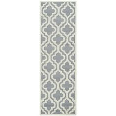 Safavieh Handmade Moroccan Cambridge Silver Wool Rug (2'6 x 12') | Overstock.com Shopping - Great Deals on Safavieh Runner Rugs