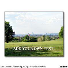 Golf Course London City View Postcard