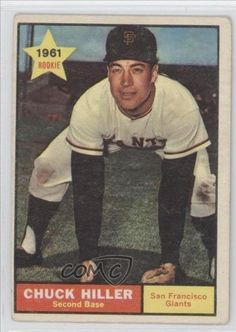 Chuck Hiller RC (Rookie Card) San Francisco Giants (Baseball Card) 1961 Topps #538 by Topps. $29.99. 1961 Topps #538 - Chuck Hiller RC (Rookie Card)