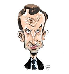 En marche ! pour la caricature d'Emmanuel Macron Emmanuel Macron, Good Jokes, Satire, Illustration, Art Drawings, Cartoon, Humor, Portrait, Fun