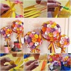 How to Make Splendid Quilled Daisy Topiaries | www.FabArtDIY.com LIKE Us on Facebook ==> https://www.facebook.com/FabArtDIY