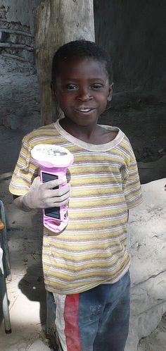 Simple to operate, the Big Bogo solar flashlight is often used by children to aid them in their studies after dark.