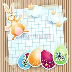 New file on Fotolia :) #Easter card with bunny #vector