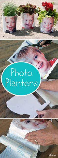 These photo planters are EASY to make and make great gifts for Mother's or Father's Day.  Or get the kids excited about gardening with their very own planter. DIY instructions here: http://www.ehow.com/how_12343242_diy-photo-planters.html?utm_source=pinterest.com&utm_medium=referral&utm_content=freestyle&utm_campaign=fanpage