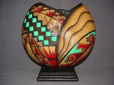 Gourd art by Heather Kinkade  Stunning piece