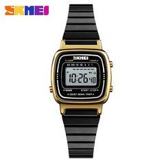 fdf2e3bd936 Casio Women s Digital Gold Retro Casual Sports watch Daily Alarm