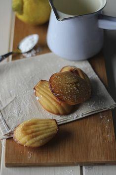 lemon and ricotta madeleines #food