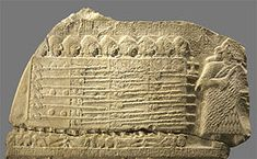 Sumerian phalanx formation. Detail of a fragment of the victory stele of the king Eannatum of Lagash over Umma, called Stele of the Vultures...