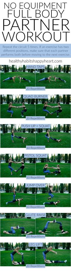 Grab a Friend & Try This Full Body Partner Workout   healthyhabitshappyheart.com