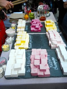 """Here's our stall, as seen by a marsmallowista!    """"Home made marshmallows at Portobello Market. Mango was my fav!!"""""""