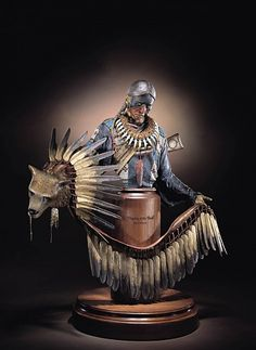 Dave McGary (sculptor), Kicking Bear bust - Blessing of the Bear Bronze with Patina and Paint