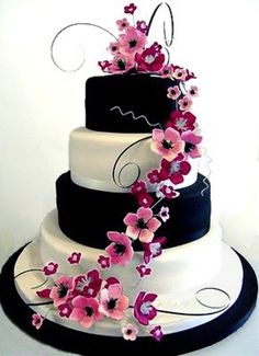love this cake!! - Click image to find more Weddings Pinterest pins