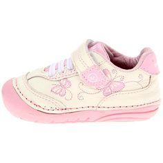 Bambi Velcro Sneaker- Infant: White/Pink