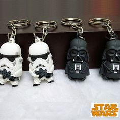 Stormtrooper and Darth Vader keychains - $0.80 each