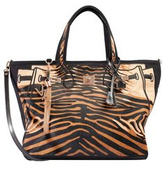 V73 Animalier Tiger  Borsa Tigrata In Tessuto E Cavallino - VOLPI DONNA LUXURY SHOPPING WOMEN'S CLOTHING, SHOES AND ACCESSORIES