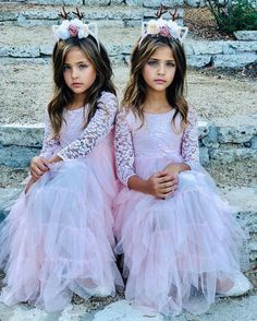 Preteen Girls Fashion, Cute Kids Fashion, Girl Fashion, Cute Young Girl, Cute Girls, Tulle Flower Girl, Flower Girl Dresses, Little Girl Princess Dresses, Mother Daughter Fashion