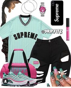 baddie outfits for school easy outfits to put together,easy fashion outfits comfy casual,easy fashion outfits for women Swag Outfits For Girls, Cute Swag Outfits, Teenage Girl Outfits, Cute Outfits For School, Teen Fashion Outfits, Teenager Outfits, Dope Outfits, New Outfits, Stylish Outfits