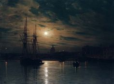 Night on the Neva, St. Petersburg, Lev Feliksovich Lagorio. Russian (1827 - 1905).  Tumblr