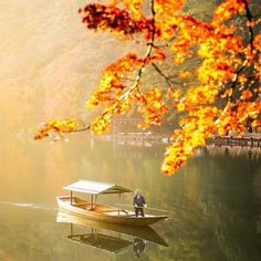 An unforgettable morning along the Ōi River in Arashiyama. A local passes by in his boat drifting through a golden haze in the air Watch my Japan film by clicking the link in my bio!