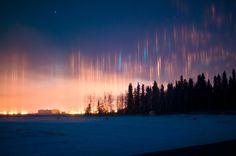 The stunning natural phenomenon of light pillars  #light #sky #light_pillars  http://greenhotelparis.com