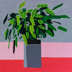 Beautifully Simple Paintings of Potted-Plants by Guy Yanai