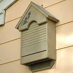 Bat House ~ Bat houses will attract bats who are natural predators of those pesky summer insects. Use these eco-friendly bat houses to deter pests and enhance your outdoor yard decor. Bats also serve an important role in seed dispersal, and many cultures also see the bat as either sacred or good luck.