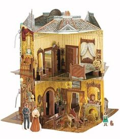 Victorian Dollhouse Book (3D)  the detail is awesome!