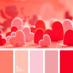 ~ ♥The color palette In a passionate mix of colors complemented by a related range of light pastel shade by In Color Balance Red Colour Palette, Colour Schemes, Color Combos, Color Patterns, Pink Color, Design Shop, Inspiration Design, Color Balance, Color Swatches