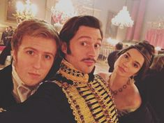 Jordan Waller, David Oakes and Margaret Clunie on set. From Margaret's Instagram, May 11, 2016.
