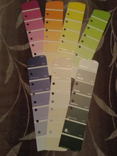 My DIY page dividers/markers. Used: various colored paint chips. Can be customized to fit, any size Planner.