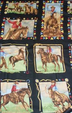 Cowboy Fabric Rancher Horse Steer Scenic Springs CP55729 Sagebrush By The Yard
