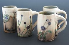 Carol Long Pottery Mugs