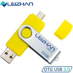 LEIZHAN 6Colors USB Flash Drives 32GB USB 3.0 Android Phone OTG Flash Drive 16 gb PenDrive 8GB For Huawei, Samsung, Xiaomi etc #Affiliate