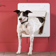 "Features: Flap Dimensions: 13 1/16""W x 15 3/4""H For Pets Up to 100 pounds - Sensing range adjustable up to 3 feet. - Plexiglas flap with locks in both directions - System can identify up to 5 SmartKey"