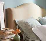 Raleigh Upholstered Camelback Bed Headboard week delivery if you go with the oatmeal colored linen Slipcovered Headboard, Nailhead Headboard, Home Bedroom, Bedroom Decor, Bedrooms, Master Bedroom, Furniture Upholstery, Home Furniture, Wicker Furniture