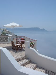 Santorini, Greece I want to have coffee here with my Chuck Places Around The World, Oh The Places You'll Go, Great Places, Places To Travel, Places To Visit, Around The Worlds, Romantic Places, Beautiful Places, Mykonos