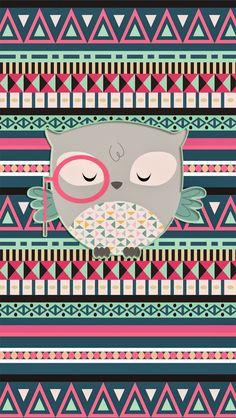 Pretty Walls: Aztec owl freebie