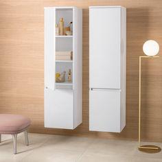 V&b legato matt hvit høyskap dører venstrehengslet - MegaFlis. Tall Cabinet Storage, Divider, Room, Furniture, Home Decor, Modern, Bedroom, Rooms, Interior Design