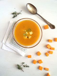 Butternut Squash Soup With Feta Topping | Where Is My Spoon