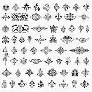 Collection of ornamental design elements.  I haven't checked it out thoroughly but they appear to be free.