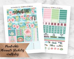 March Monthly View Kit for the vertical Erin Condren Life Planner Beautiful floral blooms, delicate macaroons, and touches of glitter, this kit is a perfect transition into Spring! I love the beautiful tea party artwork and am obsessed with the gorgeous girl, could this kit be any more perfect for March? This is a digital file, you will not receive any physical stickers. As soon as purchase is confirmed, you are able to download the files and print them as many times as you want! This kit…
