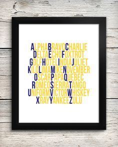 US Navy Military Alphabet Print  US Navy by AddisonAndLake on Etsy, $20.00